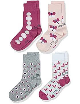 s.Oliver Socks Mädchen Junior Fashion Socks 4p, 4er Pack