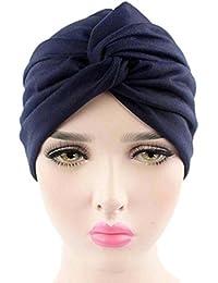Mamum Turban Femme Bandeau Fille Chapeau Musulman Islamique Bonnet Bouchon  Fichu avec Deux Fleurs en Coton a476592d048