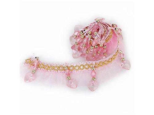 Driverder Vorhang Spitze Zubehör Fransen Perlen trimmen Innen trimmen G ((Pink) -