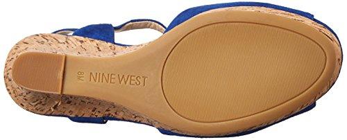 Nine West Big Easy Synthétique Sandales Compensés blue