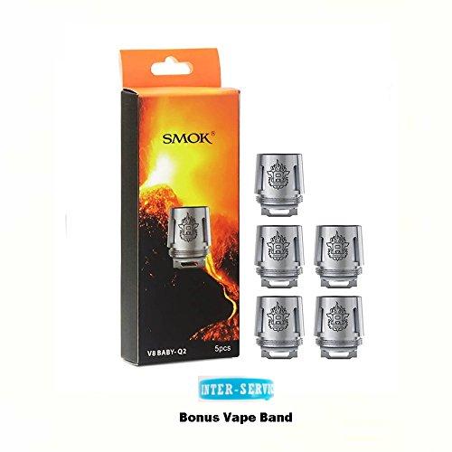 SMOK TFV8 V8 Baby Q2 0 4 ohm Bobinas de repuesto para TFV8 Baby Tank  Cigarrillo electrónico Tank and Banda Vape Extra Sin Tabaco - Sin Nicotina