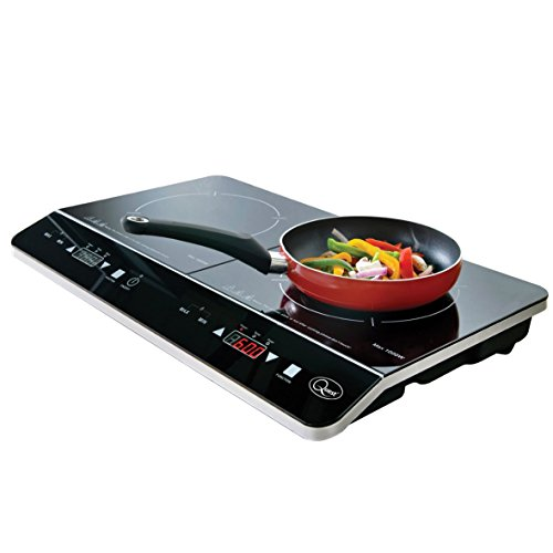 41wymZqPUqL. SS500  - Quest 35840 Digital Induction Hob Hot Plate with 10 Temperature Settings and Touch Control, Double, 2800 W, Black