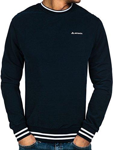 BOLF – Felpa senza cappuccio – Manica lunga – Pullover – Sweat-shirt – Motivo – Uomo 1A1 Blu scuro