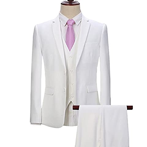 YOUTHUP Men's Tailored Fit 3 Piece Formal Business
