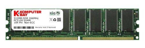 266 Mhz Pc-2100 Memory (Komputerbay 512MB DDR DIMM (184 pin) 266Mhz PC 2100 Low Density 512 MB)