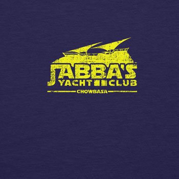 Planet Nerd - Jabba's Yacht Club Chowbasa - Herren T-Shirt Dunkelblau