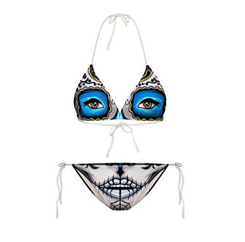 Lucky staryuan ® prime day 2016 angebote Frauen-Druck-Verband-Halter-Bikini-Set Bade Spa Bademode Anzug...