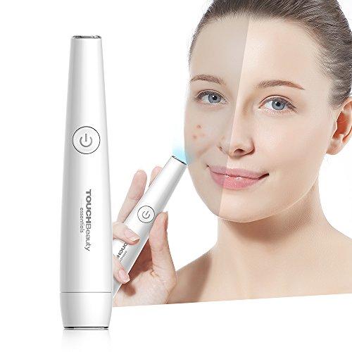TOUCHBeauty Anti Akne Lichttherapiestift für das Gesicht - Behandlung von Pickeln, Entzündungen und Hautunreinheiten - 2in1 Anti Falten Stick mit rotem und blauem Licht AG-1693 -