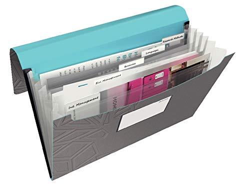 Leitz, Projektmappe, Für bis zu 150 Blatt A4, Gummibandverschluss, PP-Material, Dunkelgrau, Urban...