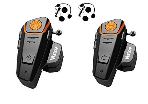 Veetop citofono - Intercom Moto Bluetooth 1000m impermeabile / set di 2
