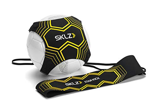 SKLZ Star Kick Trainer Football Training Aid - Hands Free Solo Practice Training Aid With Belt & Elastic Rope, Fits Size #3, #4, and #5 Footballs