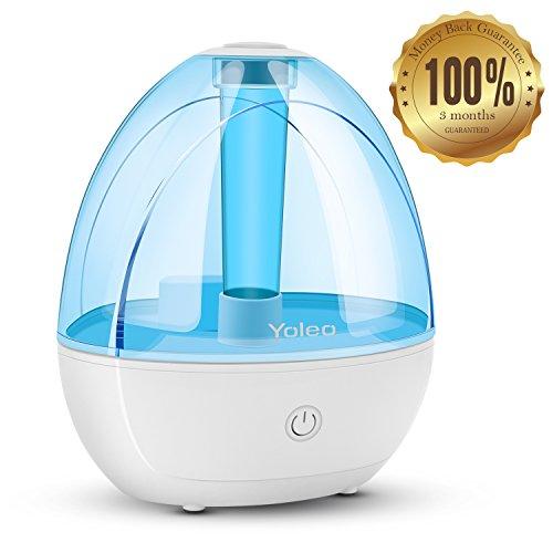 Yoleo Luftbefeuchter Ultraschall Raumbefeuchter 1,8L Wassertank Befeuchter Luftreiniger für Babies und Kinder, Raumgröße bis zu 20m²,90-Tagen-Rückerstattung-Garantie