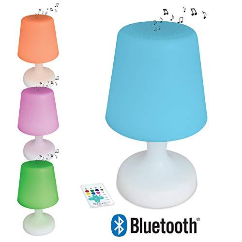 Lexibook Decotech Lampe LED couleur & son Bluetooth - 8W - effets lumineux - batterie rechargeable - blanc/multicolor - BTL035