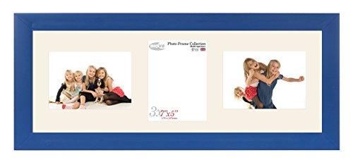 Inov8British Made Bilderrahmen/Fotorahmen, Value Royal Blau dreifach-App 7x 5x 2L/1P Zoll, 2Stück (Dreifach-bilderrahmen 5x7)