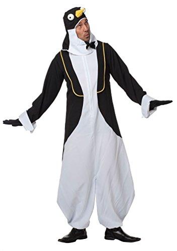 Schnabel Kostüm Pinguin - Karneval-Klamotten Pinguïn Kostüm Herren Erwachsene Pinguin-Overall Karneval Tier-Kostüm Herren-Kostüm Größe 58