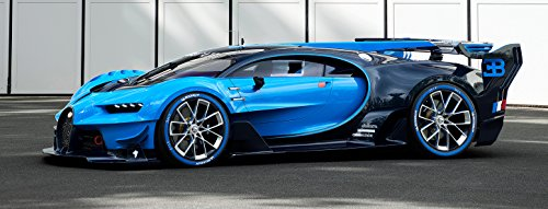 Bugatti Chiron Vision Grand Turismo Poster 58x 22Art GT Lemans Race Veyron Auto Exotic -