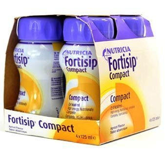 Fortisip Compact 4x125ml (ALL FLAVOURS)x2 (2 boxes – 8x125ml) (Apricot)