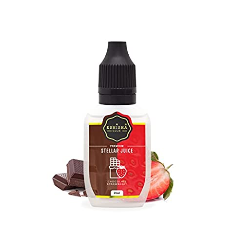 KNUQO STELLAR Juice 25ml - Schokolade Erdbeere-Geschmack   e-Zigarette   e Shisha eLiquid Flasche   Wiederaufladbare Elektronische Zigarette Liquid   Nikotinfrei   e Shisha   eShisha