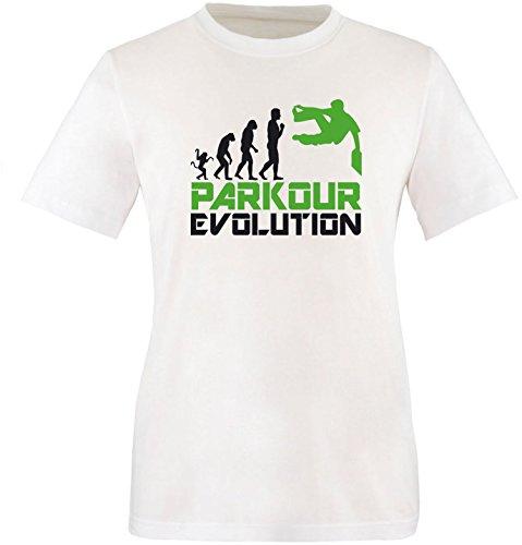 EZYshirt® Parkour Evolution Herren Rundhals T-Shirt Weiß/Schwarz/Grün