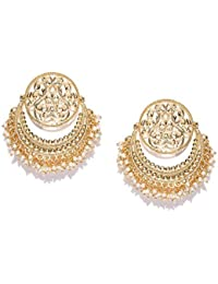 PANASH Stylish/Fashion Party Wear Gold-plated Beaded Handcrafted Chandbalis/Earring for Girls and Women
