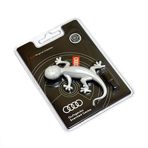 Audi 000087009A - Deodorante per ambiente originale a forma di geco, aroma arancia, colore: grigio chiaro