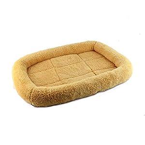 Eudola Lit de Chien, Confortable Chenil en Velours Nid de Chien Coussin Canapé Panier Maison pour Animaux de Compagnie en Automne et Hiver Confort et Chaud Accessoire
