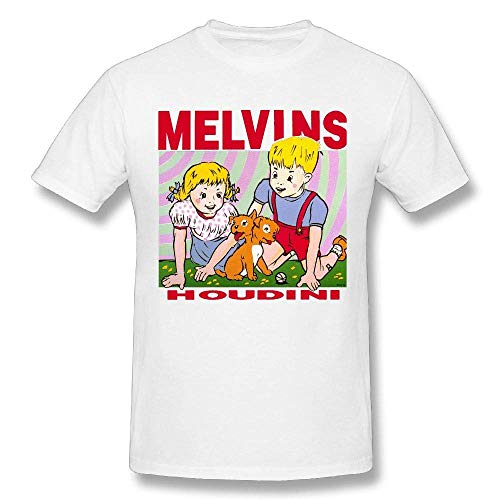 Mens White Tuxedo Shirt (Melvins-Houdini Fashion Men's Funny T Shirt XL)