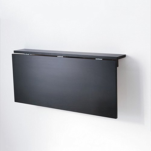 ZR-Mesa de Pared Mesa Baja abatible de Pared, Mesa Plegable Negra L90...