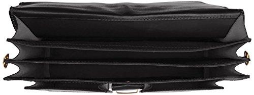 Bags4Less Unisex-Erwachsene Pisa Aktentasche Laptop Tasche, 14x30x40 cm Schwarz (Schwarz)