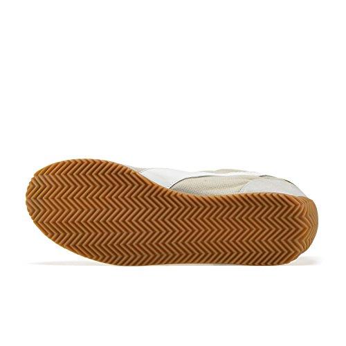 Diadora Equipe Stone Wash 12, Scarpe Low-Top Unisex Adulto C7455 - GRIGIO ARGENTO-VERDE ERBA SECCA