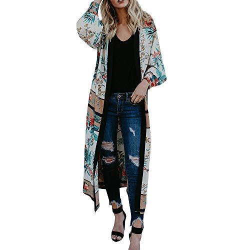 FeiBeauty Frauen-Lange Hülsen-Druck-ethnische Wind-Kimono-Windbreaker-Jacke Damen Mode-reizvolle Verband-Strickjacke-Strand-Abdeckungs-Jacke -