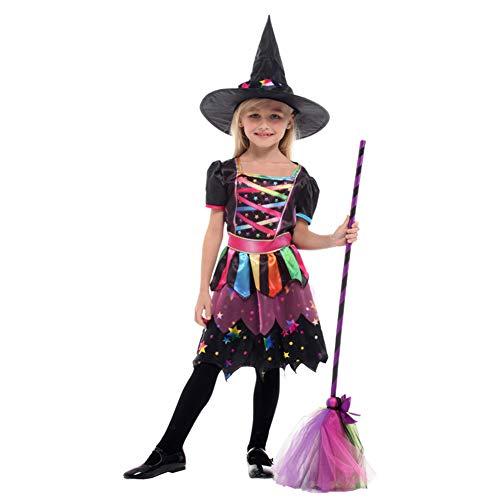 Kostüm Märchen Niedliche Halloween - Halloween Mask Hexenkostüm Märchen Niedlich Anzug Mädchen Spaßwelt,L