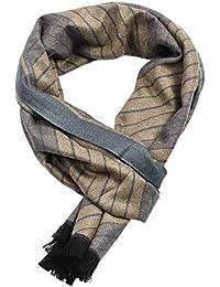 IWG Foulard homme en coton artificiel de mode froissé longues écharpes pour  hommes automne hiver léger 43139a45a79