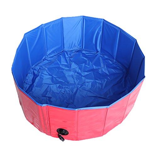 Baoblaze Tragbar Hundepool Hunde Planschbecken Badewanne Swimmingpool Waschwanne, Ø 80 x 30 cm