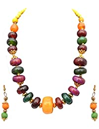 Sitashi Fashion Jewellery Formal Wear Hand Made Multi-color Beads Tibetan Necklace Set For Girls And Women
