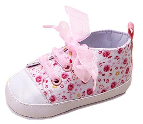 Bigood Chaussures Souple Bébé Chaussons Fleur Imprimé Antidérapant