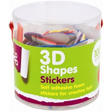Bote de 100 números adhesivos, 3D, de espuma, para manualidades