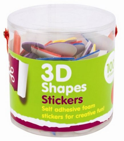 3d-shape-foam-stickers-100-pack-for-kids-boys-girls-craft-scrap-books-card-making-gift-party-bags