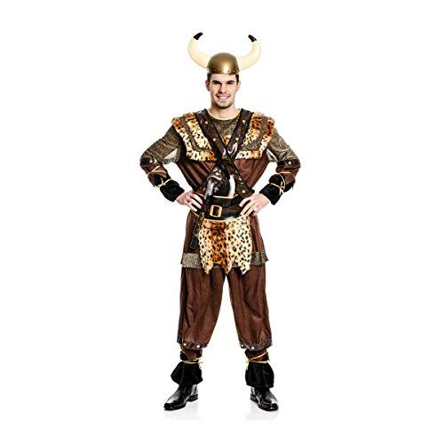 Kostümplanet® Wikinger-Kostüm Herren Männer Größe 60/62