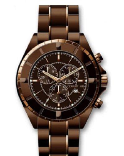 Cerruti Hommes Montre Chronograph Brun CRA006M231G