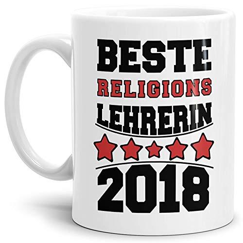 Tassendruck Tasse Religions-Lehrerin/Schule / Abi/Abschied / Lehrer-Geschenk/Geschenk-Idee/mit Spruch/Weiss