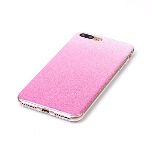 iPhone Case Cover Gradient Farbmuster Flexible Silikon TPU Schutzmaßnahmen zurück Fall für IPhone 7 Plus ( Color : L , Size : IPhone 7 Plus ) M