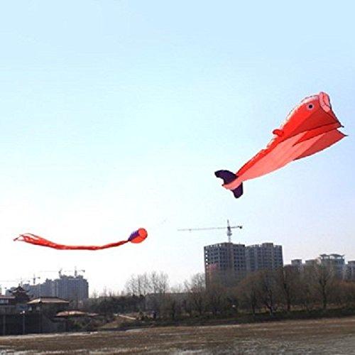 PhilMat Outdoor Sports Entertainment 3D Huge Parafoil Riesen Dolphin Kite mit 2.6 Mio. Schwanz