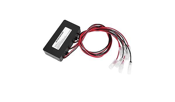 Bilanciatore batteria equalizzatore batteria Bilanciamento del sistema solare nero con protezione connessione inversa 2 x 12V Mantenere la batteria in salute e prolungare la durata della batteria