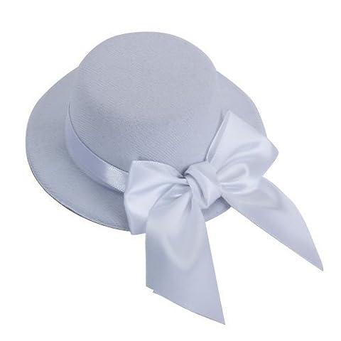 Gleader Ladies Mini Top Hat Fascinator Burlesque Millinery w/ Bowknot