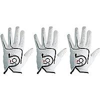 Guantes de golf Finger Ten, para hombre, piel de mano izquierda y derecha, 3 unidades, agarre suave, color Cadet Size, tamaño XX-Large--- Worn on Left Hand