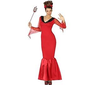 Atosa-49972 Disfraz Demonia para Mujer Adulto, Color Rojo, XL (49972)