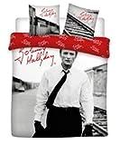 Johnny HALLIDAY - Superbe Parure de lit 100% Coton pour lit 2 Personne 240x220cm Idée Cadeau