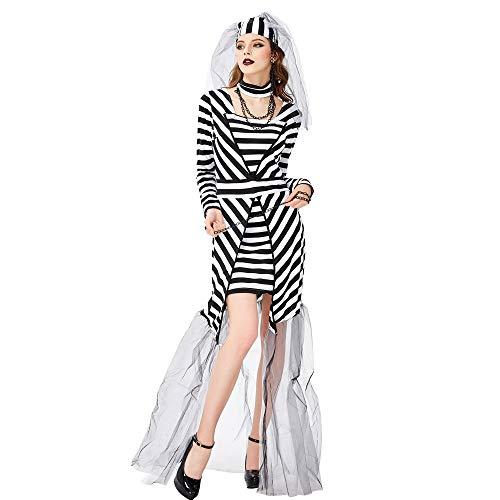 SJWSJW Halloween Gefangener Geist Braut Kostüm Kostüm Bühne Bühne Kostüm Netz Garn Gefangener Cosplay Kleidung l Kleidung (Gefangener Kostüm Geist)
