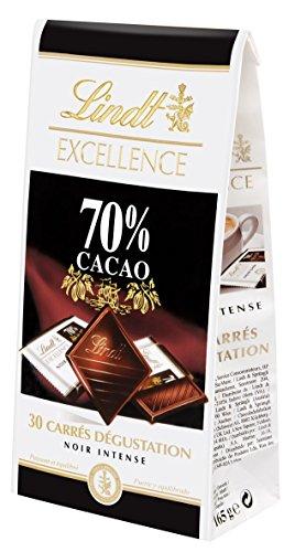 Lindt Excellence-Squares verkostung schwarz 70% 165 g - los 4 - Bohnen Extrakt Vitamine Kaffee